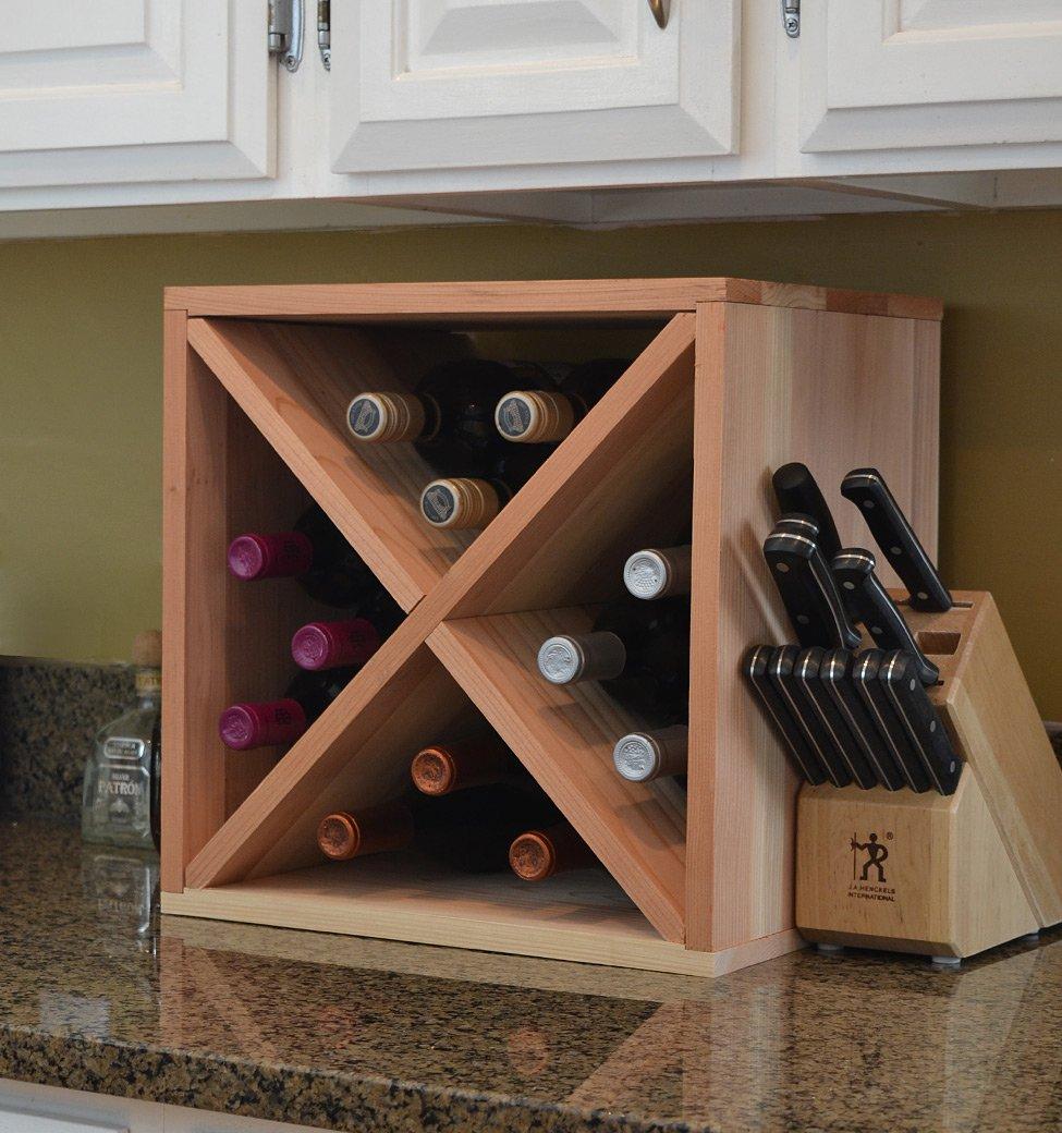 Amazon.com: Creekside 12 Bottle Wine Cube, 12