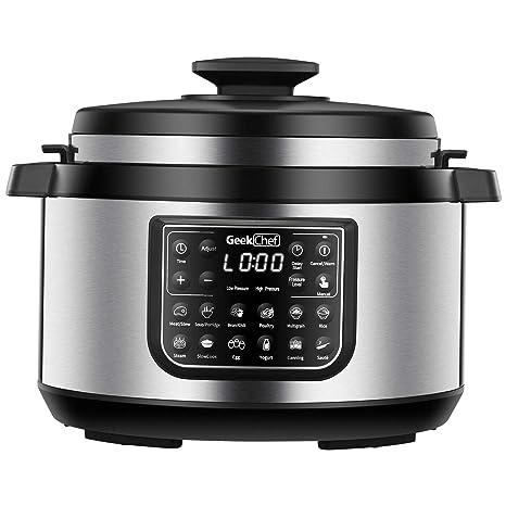 Amazon.com: Geek Chef - Olla a presión eléctrica (8 unidades ...