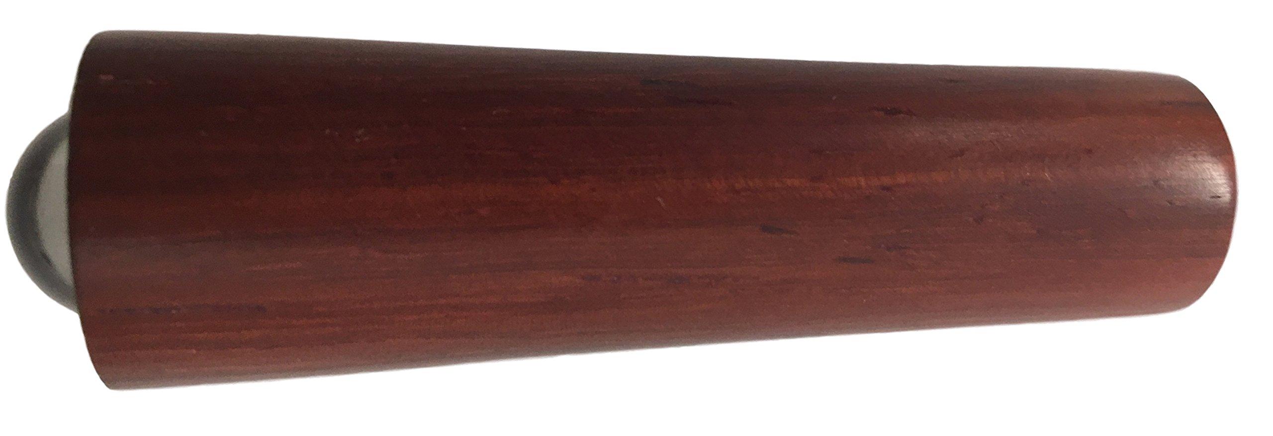 N & J Kaleidoscope Teleidoscope Solid Padauk Wood, MINI 3 Inch Long, Solid Padauk