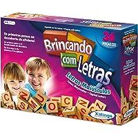 Brinquedo Pedagógico Madeira Brincando com As Letras 36 Peças Xalingo