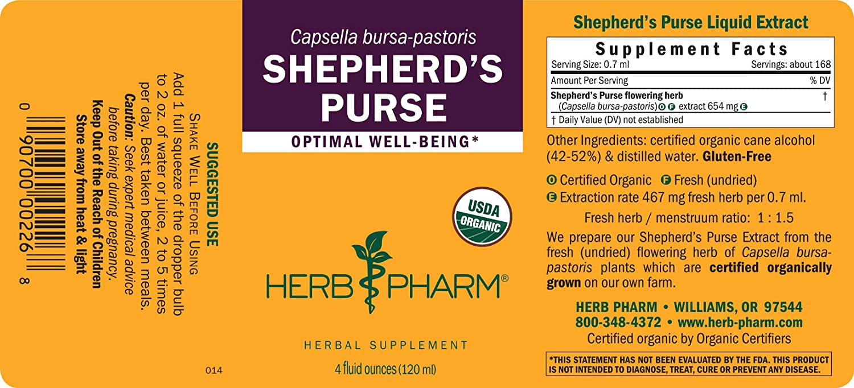Amazon.com: Herb Pharm Extracto de bolso de pastor orgánico ...