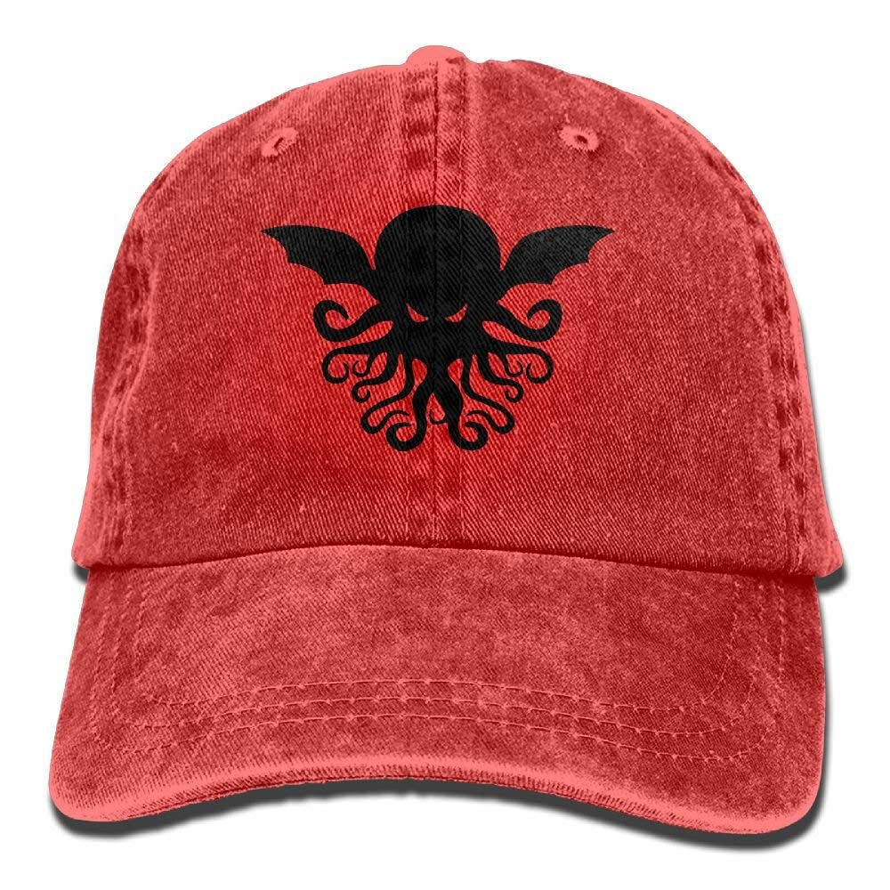 Cool Cthulhu Adult Cowboy Hat Baseball Cap Adjustable Athletic Custom Best Graphic Hat for Men and Women