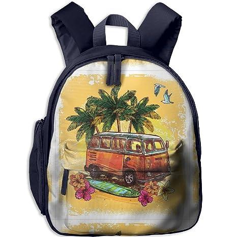 Baby Hippie - Mochila con diseño de autobús antiguo con tabla de surf Freedom Holiday Exotic