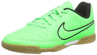 Nike Junior Tiempo Rio II IC, Chaussures de Football Mixte Enfant - Vert -  Grün