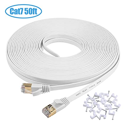50 Feet Cat5e Patch Cable Rj45 Cable White Choice Materials Computer Cables & Connectors