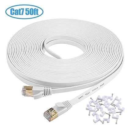 50 Feet Cat5e Patch Cable Ethernet Cables (rj-45/8p8c) Rj45 Cable White Choice Materials