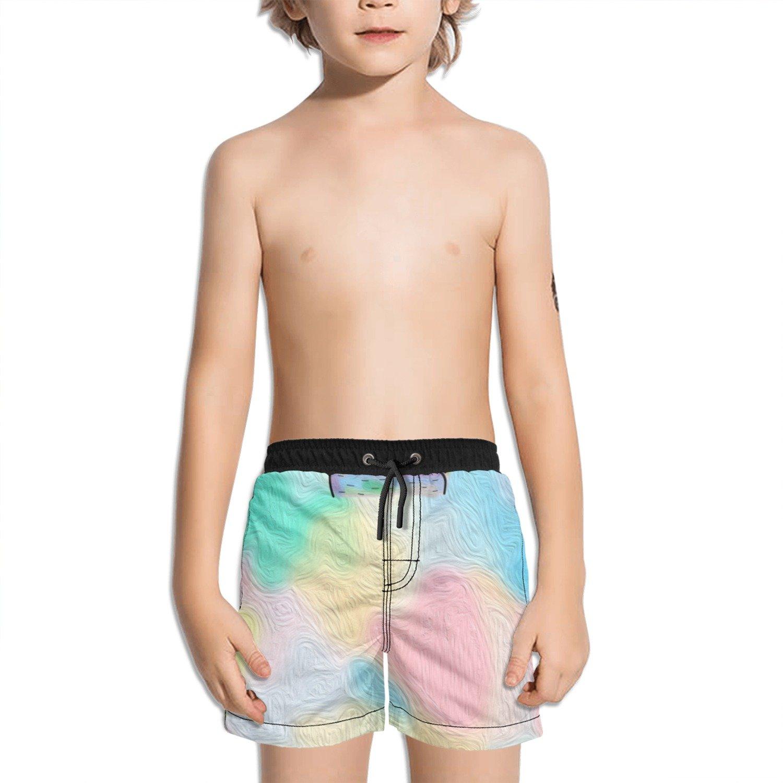 Trum Namii Boy's Quick Dry Swim Trunks Glasses Bears Shorts
