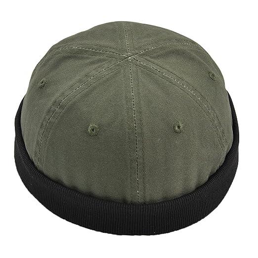 Fityle Men s Trendy Skullcap Urban Casual Outfit Brimless Watch Cap Hook    Loop Cap - Army 873e563f3c9c