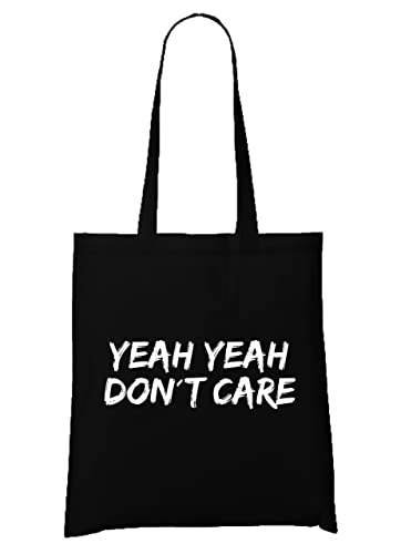 Yeah Yeah Don`t Care Bag Black: : Schuhe & Handtaschen