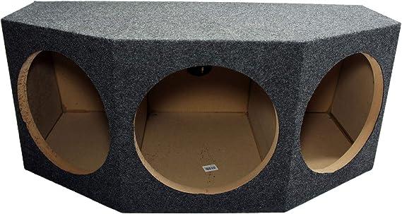 Skar Audio SK3X8V Triple 8 Universal Fit Ported Subwoofer Enclosure with Angled Rear Firing Design