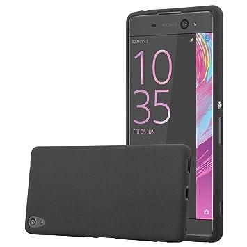 Cadorabo Funda para Sony Xperia XA Ultra en Frost Negro - Cubierta Proteccíon de Silicona TPU Delgada e Flexible con Antichoque - Gel Case Cover ...