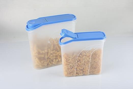 3, 7L copos de maíz recipiente, bote, cereales recipiente Müslibox ...
