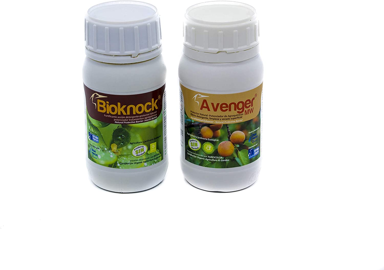 BIOKNOCK®+Avenger® (1.200 m2). Insectos/Pulgón/Hongos; Pack eficacia Extra. Fito-fortificantes reparadores- Fertilizantes Especiales. Multi-acción Plantas/Cultivos. Ecológico