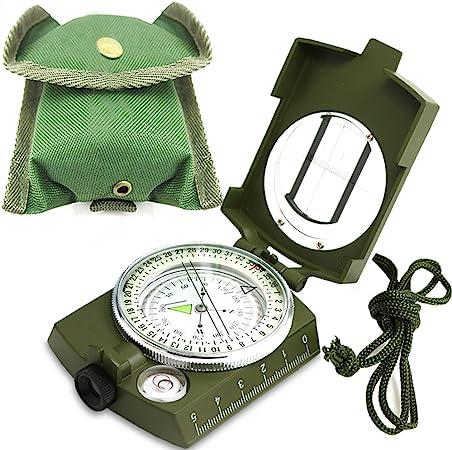 ydfagak brújula Impermeable para Senderismo, navegación Militar, brújula con Brillo en la Oscuridad, Camping, Senderismo y Otras Actividades al Aire ...