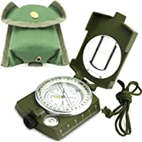 ydfagak kompas met kompas, wandelen, waterdicht, wandelen, militaire navigatiekompas met fluorescerend design, perfect voor kamperen, wandelen en andere outdoor-activiteiten