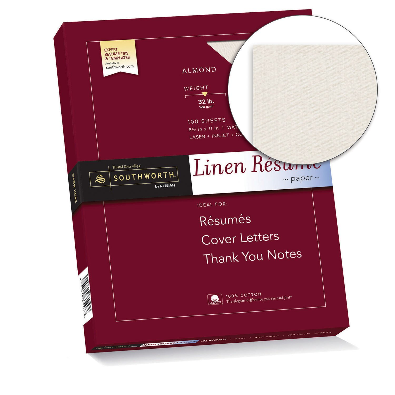 Amazon Com Southworth Linen Resume Paper Almond 32 Pounds 100