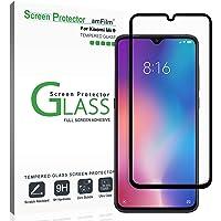 amFilm Verre Trempé pour Xiaomi Mi 9, Adhésif Complète (Installation Facile) Film Protection écran pour Xiaomi Mi 9 (1 Pièce, Noir)