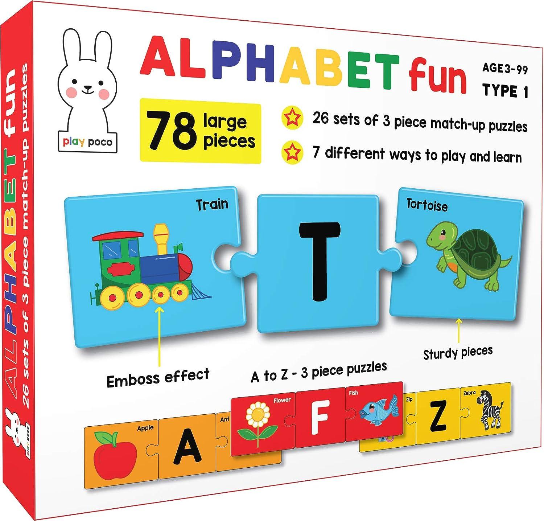 Play Poco Alphabet Fun Type 1 – 78 Piece Alphabet Matching Puzzle