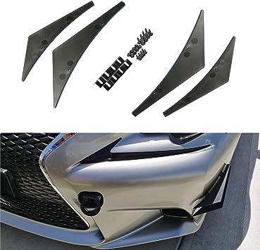 KIMISS Bumper Canards,4Pcs//Set Universal Carbon Fiber Bumper Canards Lip Spoiler
