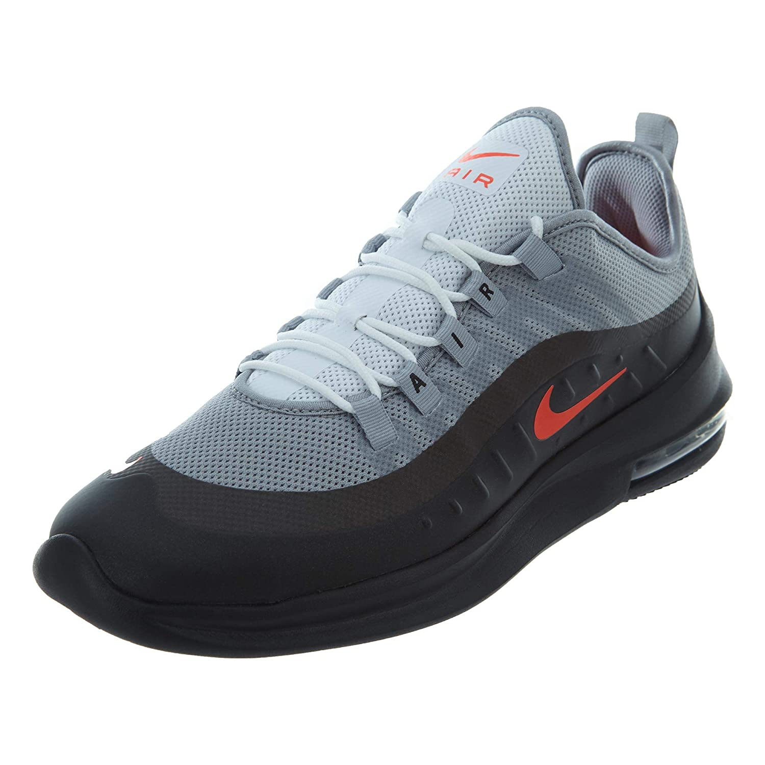 TALLA 43 EU. Nike Air MAX Axis – Wolf Grey/Total Crimson de Black de
