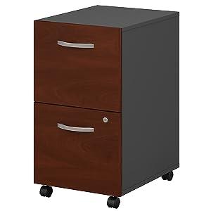 Series C 2 Drawer Mobile File Cabinet in Hansen Cherry