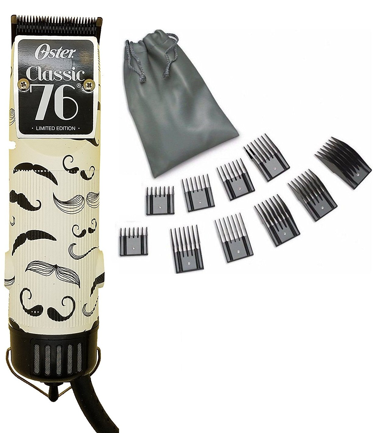 Oster 76 Mustache Professional Hair Clipper Limited Edition 10 PC Comb Set