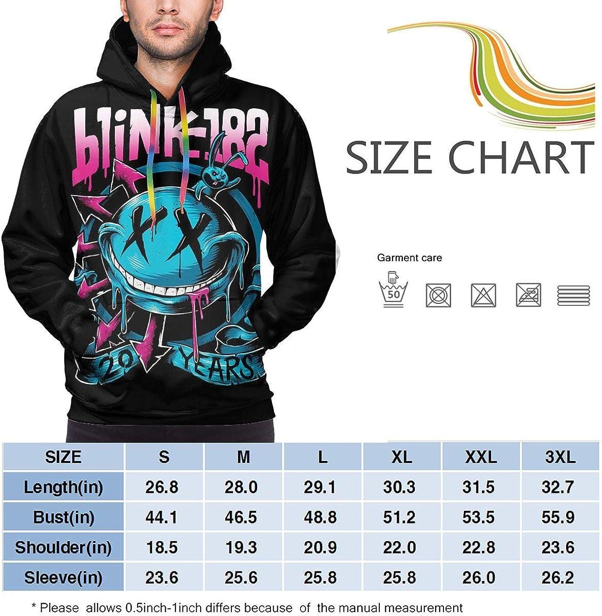 Blink-182 Classic Hoodie Mens Hooded Sweatshirts Long Sleeve Tops Hoodies