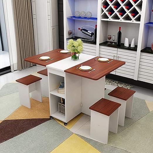 Bangxiu-home Mesa de Cocina Extensible Mesa Plegable de Comidas ...