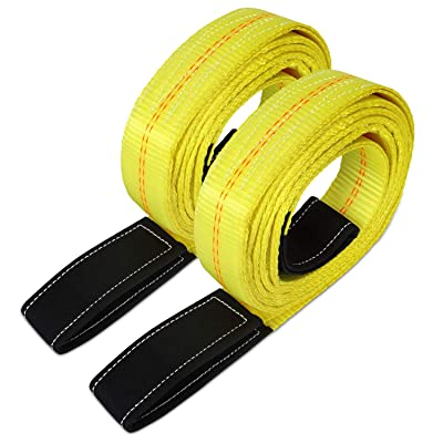 "Dooke 2 Pack 6' x 2"" Lift Sling Straps for Construction 10,000 Pound Capacity: Home Improvement"