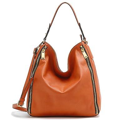 dcc861253ad6 Amazon.com  Tosca Side Zippered Hobo Handbag (Orange)  Clothing