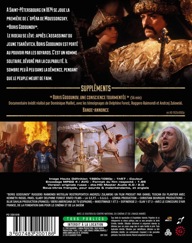 Amazon.com: Boris Godounov [ Blu-Ray, Reg.A/B/C Import - France ]: Ruggero Raimondi, Kenneth Riegel, Pavel Slabý, Wyatscheslaw Polozov, Bernard Lefort, ...