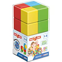 Geomag Magicube - 8 Cubes -Magnetic Construction for Children - Green Collection - 100% Recycled Plastic Educational…