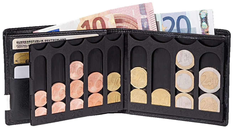 0b45bf5ba0577 EiMiX Nappa schwarz Geldbörse für Münzen schnell flach Sortiert  Amazon.de   Drogerie   Körperpflege