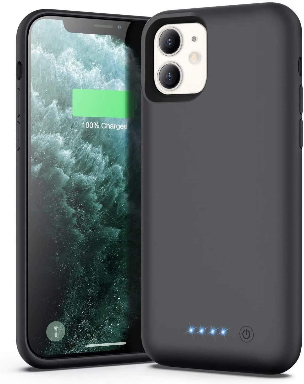 Ekrist Funda Batería para iPhone 11, 6800mAh Funda Cargador