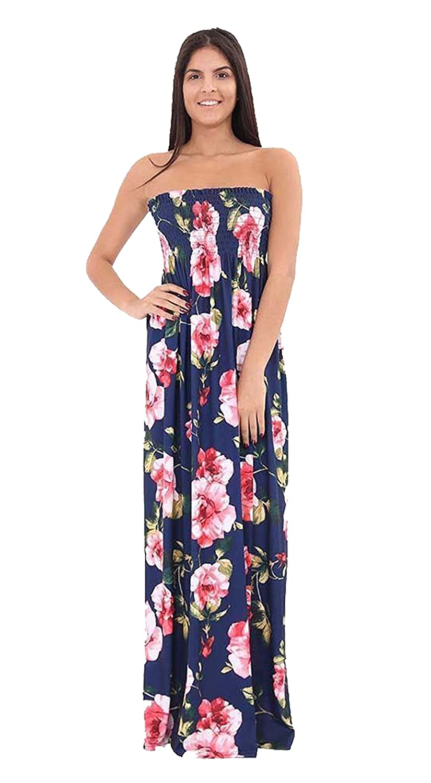 b6b2ee6ef1 Fast Fashion Women s Maxi Dress Plus Size Tie Dye Floral Print - Black -  X-Large  Amazon.co.uk  Clothing