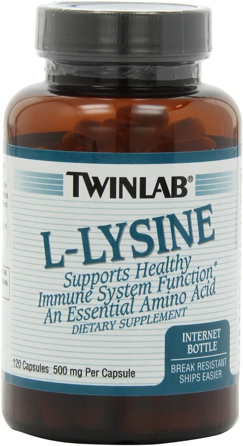 Twinlab L-Lysine 500mg Capsules, 120 Count