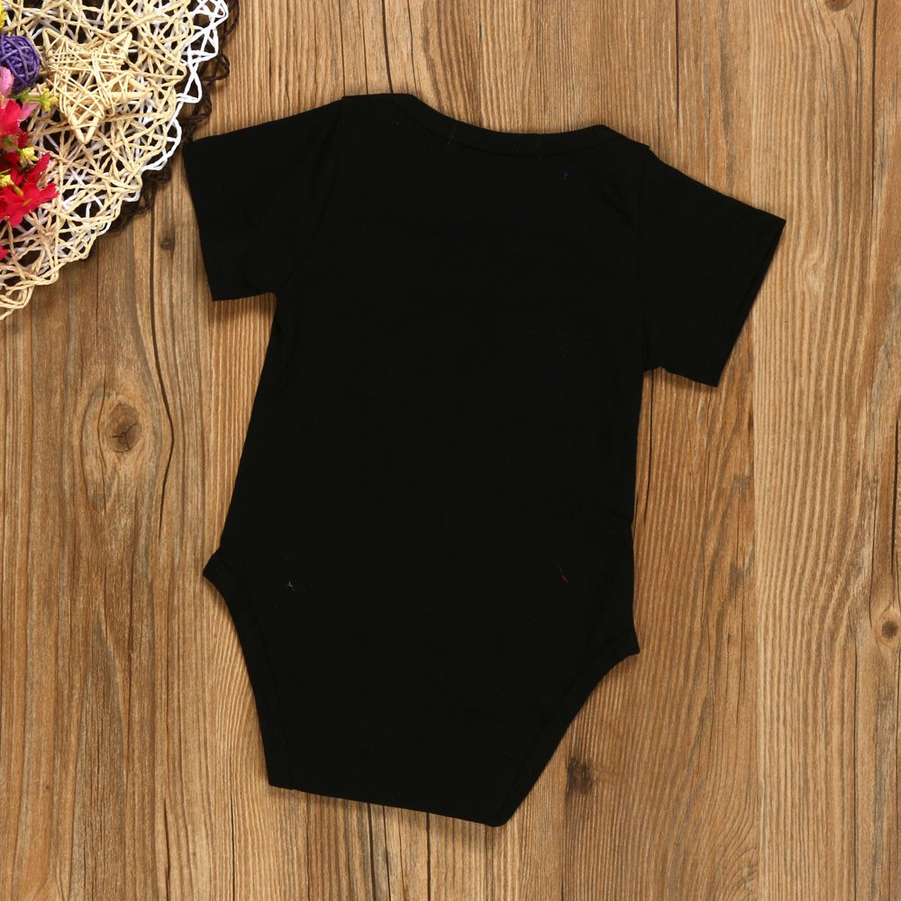 Newborn Infant Baby Boy Girl Short Sleeve Letter Print Jumpsuit Clothes Im Cute Mom Hot Dad Lucky Printed Robes Bodysuits Xinantime Baby Romper for 3-18 Months,Big Sales