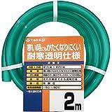 タカギ(takagi) ホース 耐寒ソフトクリア15×20 002M 2m 非耐圧 透明 耐寒 PH20015CD002TM 【安心の2年間保証】
