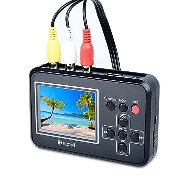 84cd1c533 Convertidor de captura de vídeo USB VHS a DVD Digital Grabber Grabador  Capturadora Digitalizadora de vídeo para Mac Windows  Amazon.es  Informática