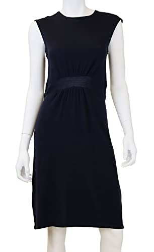 Doria Women's 100% Wool Front Pleated Sweater Dress