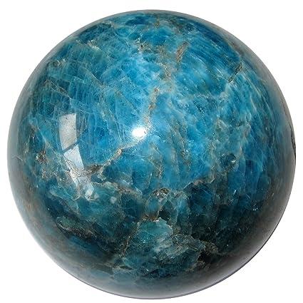 Apatite Ball 75 Blue Web Crystal Dream Weaver Meditation Stone Natural Sphere 2.3 Satin Crystals apatiteball75