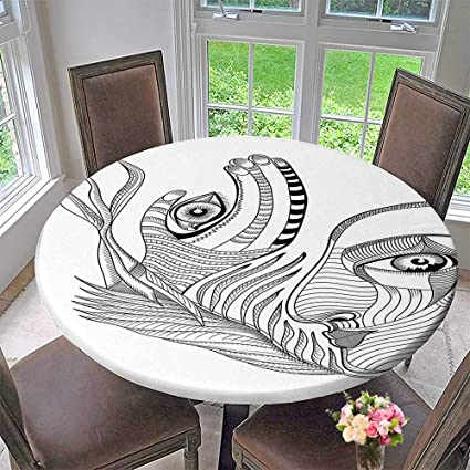 Amazing Amazon Com Mikihome Round Table Tablecloth Surreal Human Andrewgaddart Wooden Chair Designs For Living Room Andrewgaddartcom