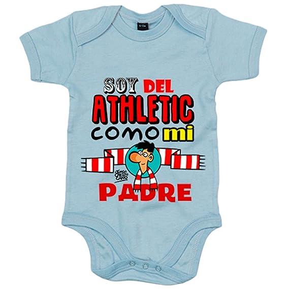 Body bebé soy del Athletic como mi padre Jorge Crespo Cano - Blanco ... 9993d1f011ae4