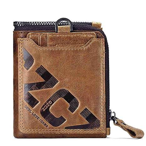 15fd2228a51e Amazon.com: ZFNUJKD Genuine Leather Men Wallet Fashion Coin Purse ...