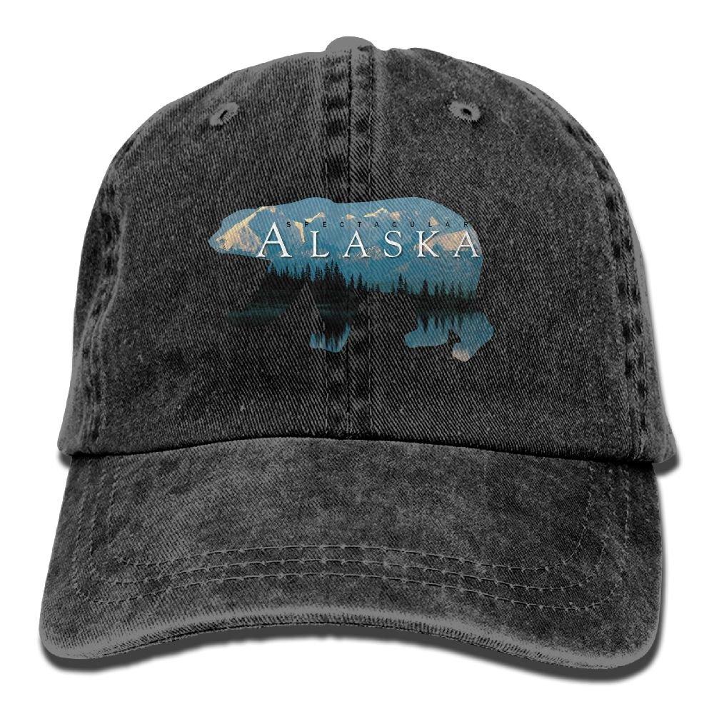 Trableade Alaska Bear Home In Spector Unisex Sport Adjustable Structured Baseball Cowboy Hat