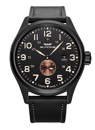 Glycine Hombre Reloj de pulsera kmu48 Fecha Analógico Automático 3952.959 at.lb90: Amazon.es: Relojes
