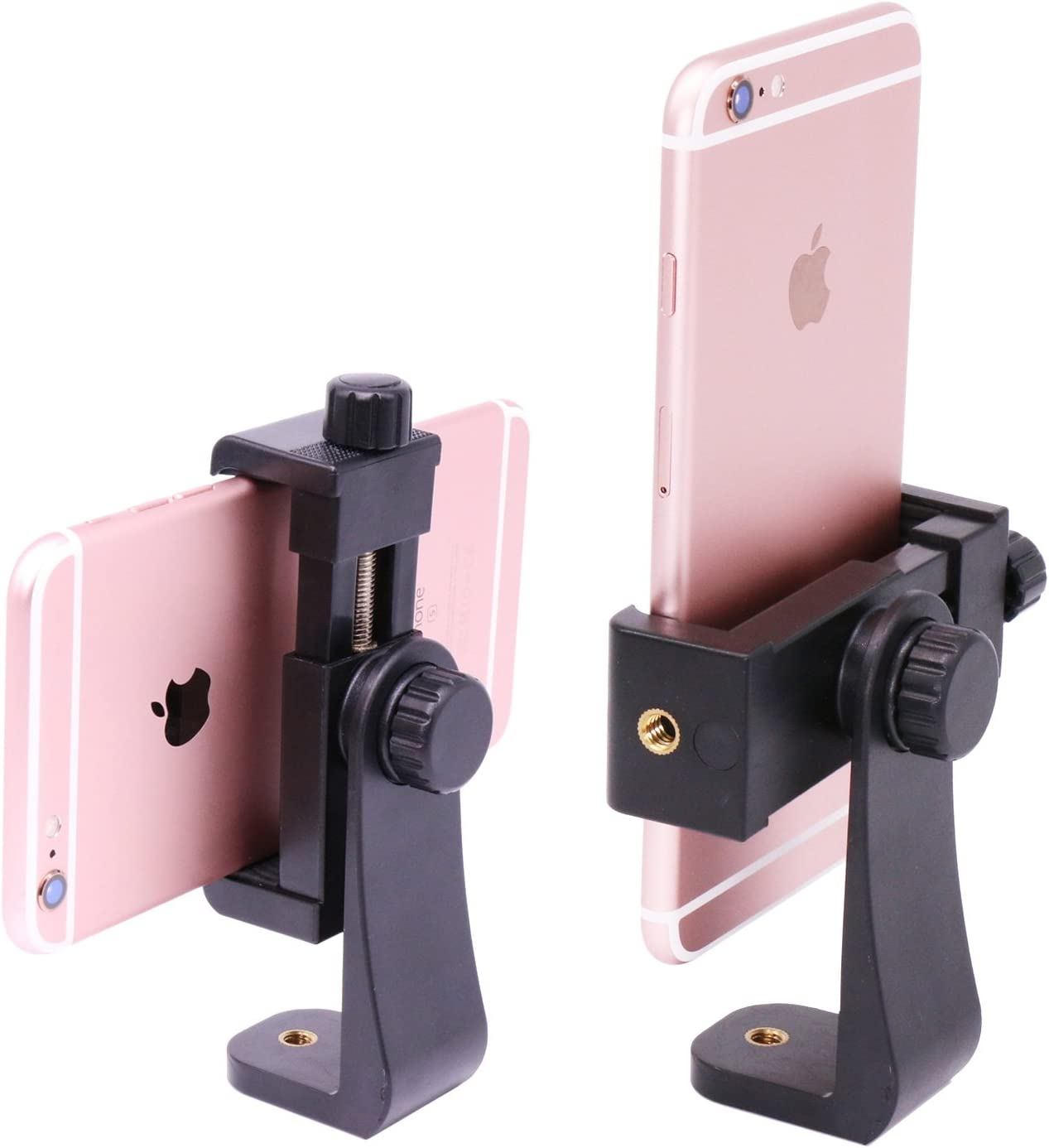 Compatible with iPhone Samsung Galaxy Smartphone Rotate Vertical Horizontal Adjustable Phone Holder Clamp Tripod Phone Mount Adapter Holder