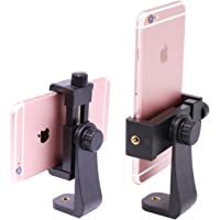 "Ulanzi Tripod Mount /Vertical Bracket Smartphone Holder/Phone Clip Clipper Tripod Adapter for iPhone Samsung Smart Phones 2-1/4 - 3-5/8"" Wide (Mount Adapter)"