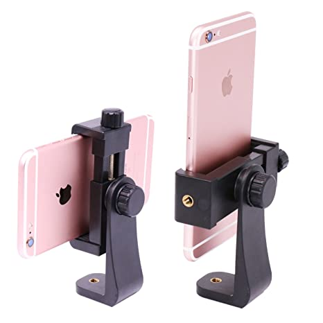 Ulanzi Phone Tripod Mount Adapter/Vertical Bracket Smartphone Holder/Cell Phone Clip Clipper Sidekick 360 Degree Smartphone Video Tripod Clamp Compatible I Phone Xs X 7 Plus Samsung Android by Ulanzi
