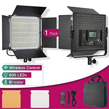Led Panel Light Photography Barn Doors 40w 4500lm Dimmable Continuous Output Lighting Studio Product Interview Portrait Youtube Video Shooting 48ch 6